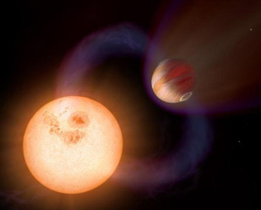 """Eksoplaneetta kiertää lähellä tähteä. Kuva: <span class=""""photographer"""">A Schaller/NASA/ESA/STScI</span>"""