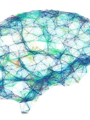 """Aivot ovat hermosolujen eli neuronien verkosto, josta voi erottaa sanojenkin muodostumista. Kuva: <span class=""""photographer"""">Alfred Pasieka / Science photo library.</span>"""