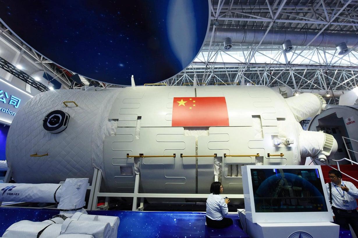 Kiinan avaruusaseman ydinmoduuli on 17 metriä pitkä. Kuva: Reuters