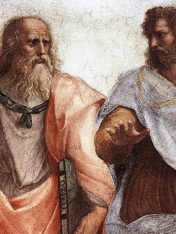 """Antiikin suuret nimet Platon ja Aristoteles opettivat, että nainen on vajavainen mies. Kuva: <span class=""""photographer"""">Ateenan koulu/Alamy/MVPhotos</span>"""