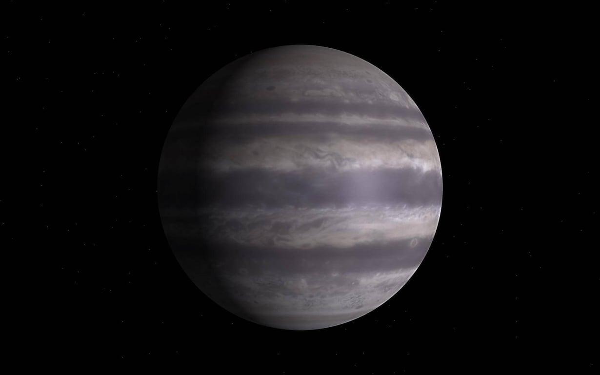 Taiteilijan näkemys Jupiterin kaltaisesta, hyvin lähellä tähteä kiertävästä kaasuplaneetasta. Kuva: ESO /L. CALÇADA