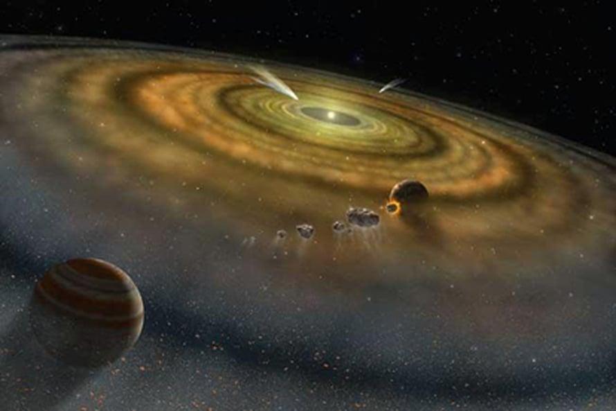 """Supernovaräjähdys ravisutti nuorta aurinkokuntaa. Kuva: <span class=""""photographer"""">NASA/FUSE/Lynette Cook</span>"""