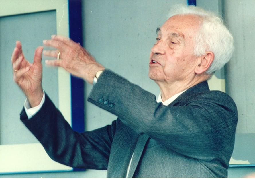 """Ernst Mayr eli satavuotiaaksi. Kuva: <span class=""""photographer"""">Konstanzin yliopisto</span>"""
